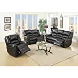 Vivian Motion Living Room Group (Set of 3) Black