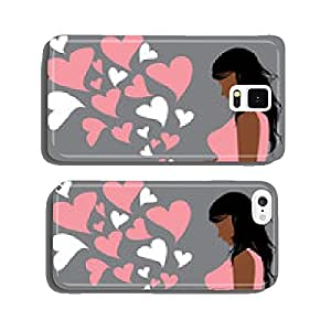 beautiful pregnant woman. Vector . cell phone cover case Samsung S6