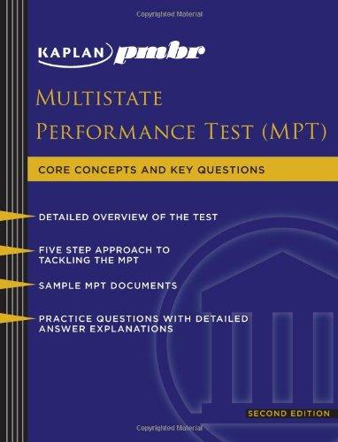 Kaplan PMBR: Multistate Performance Test (MPT) (Kaplan PMBR Finals)