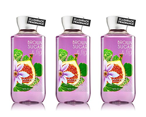 Bath and Body Works Brown Sugar and Fig Shea Enriched 10 oz Shower Gel 3 Pack