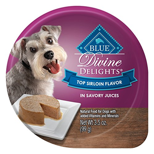 (Blue Buffalo Divine Delights Natural Adult Small Breed Wet Dog Food Cup, Top Sirloin Flavor in Savory Juice 3.5-oz (Pack of 12))