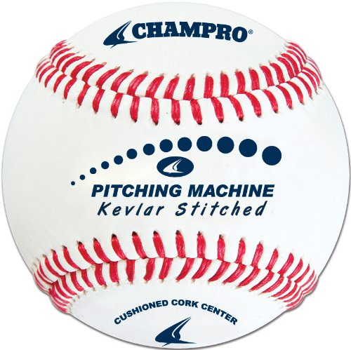 Champro Kevlar Stitched Baseball (White, 9-Inch)(1 Dozen) by CHAMPRO