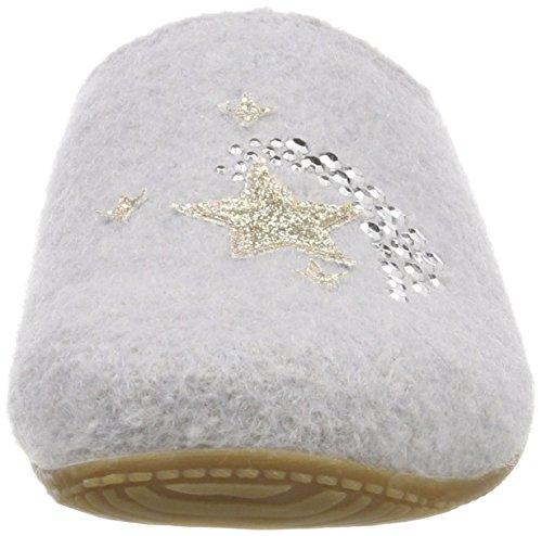 Estar Kitzbühel Pantoffel De Mit Gris Applikation Casa Living 620 Zapatillas Mujer Por Para hellgrau xqUFwRR1