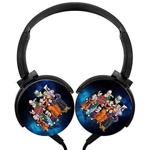 Unisex V-egeta Go-ku Friend Wired Stereo Headphones Customized Foldable Headsets Over Ear Noise Cancelling