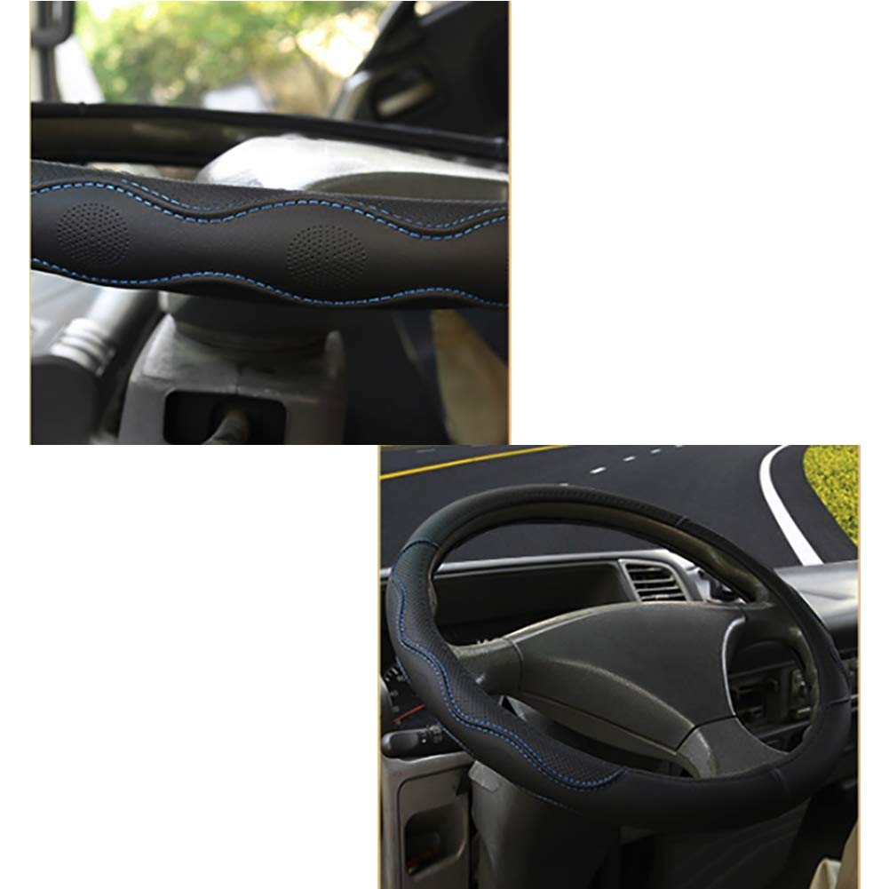 Vier Jahreszeiten Universell Schwarz /& Blau f/ür PKW//LKW//Busse//Transporter//Minivans Leder Auto Lenkradabdeckung Durchmesser 36-50 cm // 14.2-19.7 Zoll