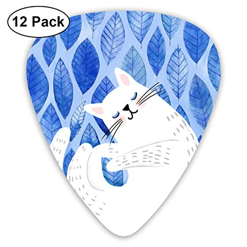 I Want to Sleep Forever Sleeping Cat Exquisite Shell Surface Guitar Pick-12 Pieces of Packaging General Purpose