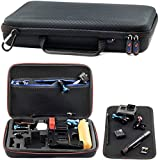 Large Action Camera Carrying Case For GoPro HERO FUSION Akaso EK7000 Brave 5 4 Apeman EKEN H9R Fitfort Crosstour Campark ACT74 ACT76 Davola Dragon Touch Jeemak YI 4K Cam HD 12x8x2.5 Inches Big