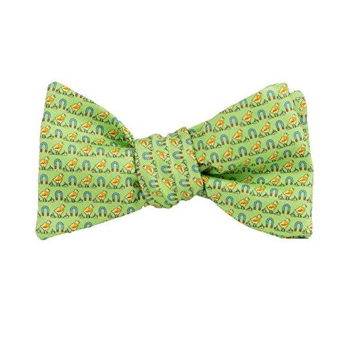 (Peter-Blair Men's Green Chick Magnet 100% Silk Bow Tie Handmade in USA(39CMG4BT))