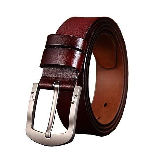 Heqianqian Cinturones de Hombre Cinturón de Vestir para Hombre ...