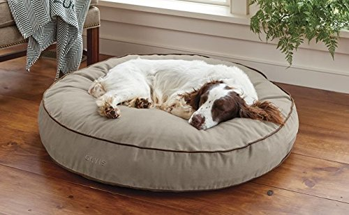 Orvis Comfortfill Round Dog's Nest/Small Dog Bed - Dogs Up to 25 Lbs, Taupe