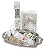 Boys English Our Lady of Guadalupe First Holy Communion Complete Gift Set with Tray. Gift Boxed