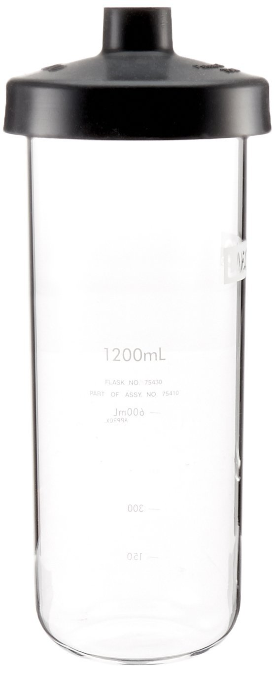 Labconco Fast Freeze 7541000 Borosilicate Glass Wide Mouth Flat Bottom Complete Flask, 1200ml Capacity by Labconco