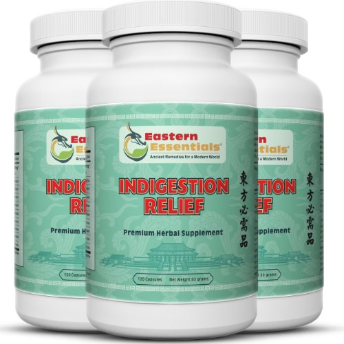 Indigestion Relief- 3 Bottles/ 1 Month Supply- Relieve Abdominal Bloating, Nausea, Abdominal Distention and Other Digestive Problems Faster Than You Ever Thought Possible!