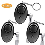 Bekhic 3Pack (Upgraded Version) Personal Alarm for Women 140DB Emergency Self-Defense Security Alarm Keychain with LED Light for Women Kids and Elders (2w)