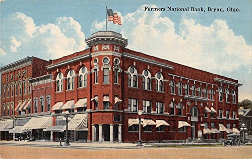 Farmers Bank National - Bryan Ohio Farmers National Bank Exterior View Antique Postcard V22178