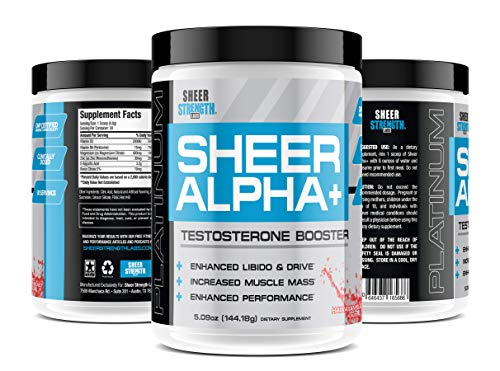 (Testosterone Booster Supplement for Men - Sheer Alpha Plus, 30 Testosterone Boosting Servings, Hawaiian Blast Flavor, 5.09oz (144.18g))