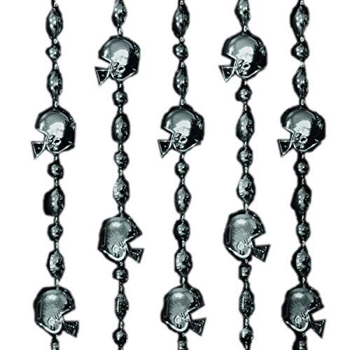 Football Helmet Bead Necklaces Black Pack of 12 ()