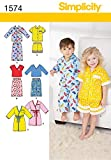 Simplicity Creative Patterns 1574 Toddlers' Loungewear, A (1/2-1-2-3-4)
