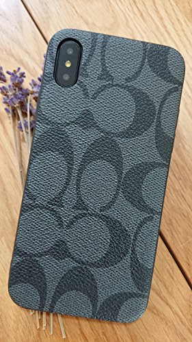 Gibbon iPhoneXS MAX - US Fast Deliver Guarantee FBA- New Elegant Luxury Designer PU Leather Monogram Style Cover Case for Apple iPhone Xs MAX ONLY (CO Black) (Case Iphone Coach)