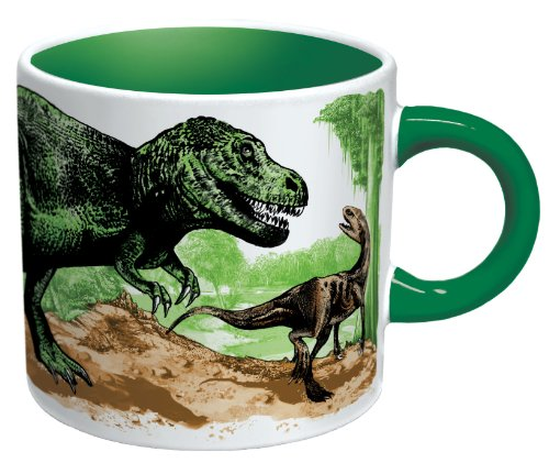 Heat Changing Disappearing Dino Mug - Add Coffee or Tea and the Dinosaurs Turn to Fossils - Comes in a Fun Gift Box -
