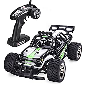 SIMREX A120 RC CARS High Speed 20MPH Scale RTR Remote control Brushed Monster Truck Off road Car Big Foot RC 2WD ELECTRIC POWER BUGGY W/2.4G Challenger Green