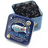 1 Box (700PCS) Disposable Hair Ponytail Holders Elastic Hair Bands Hair Tie Rubber Bands with Cute Tin Box for Baby Kids Girls (Black)