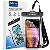"Autkors Waterproof Phone Case, Waterproof Phone Pouch Dry Bag with Lanyard for iPhone X/XS/8/7/6s/6 Plus, Samsung S9 S8, Huawei P20 Mate20 Pro, Moto G6 up to 6"", Fit for Swimming, Fishing, Surfing"