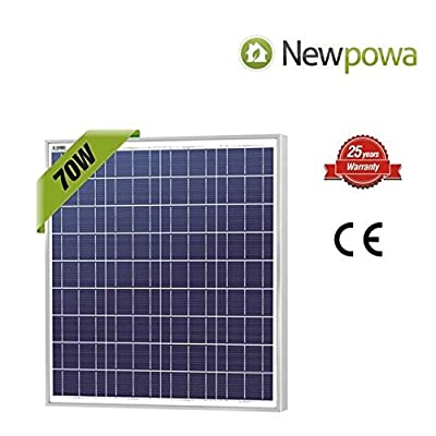Newpowa 70w 12v Solar Panel High Efficiency Poly Module Rv Marine Boat Off Grid