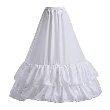 Keepart Falda de Vestido de Novia, 2 Capas, Encaje de Hojas de ...