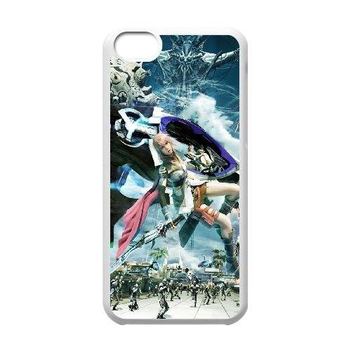 Final Fantasy Xiii 939 coque iPhone 5C Housse Blanc téléphone portable couverture de cas coque EOKXLLNCD10423