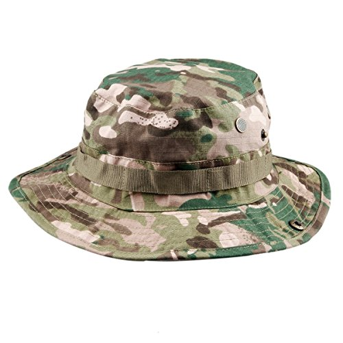 squaregarden Military Camo Adjustable Boonie Hat Hunting Bucket Hats / Czech (Boonie Hat Camouflage Hat)