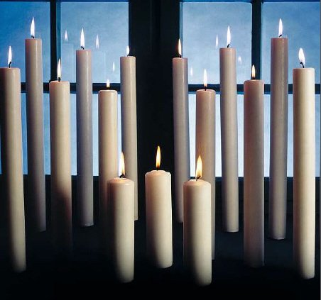 400/60 mm 3 Pezzi candele liturgiche, Cero in 100% cera Kopschitz Candela Made in Germania