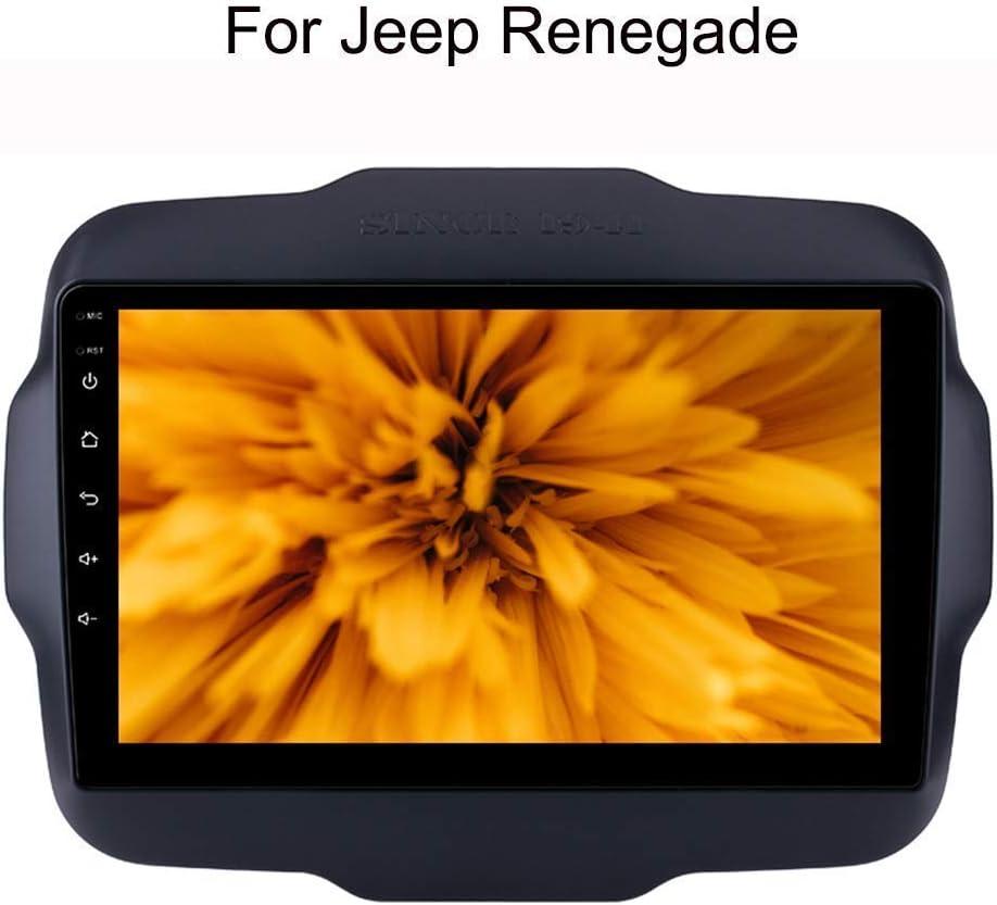 para Jeep Renegade 9 Pulgadas La Sistema de navegaci/ón GPS Navi 2 est/éreo DIN Android Radio de Coche con GPS Bluetooth Wi-Fi Pantalla t/áctil de Coches Reproductor