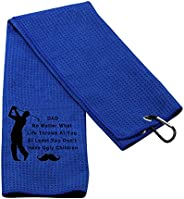 PXTIDY Dad Golf Towel Golf Father Gifts at Least You Don't Have Ugly Children Gag Gift from Daughter Son F