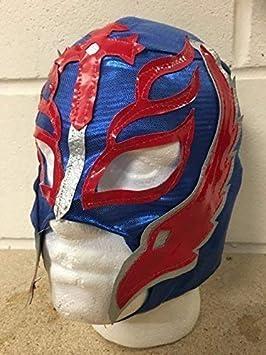 Rey Mysterio -azul- Cremallera Máscara - NUEVO - WWE Wrestling Disfraz Disfraz