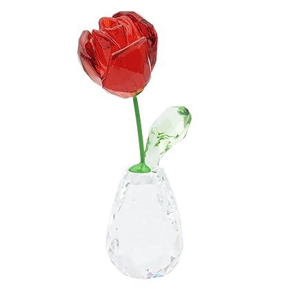Swarovski Fiore Sogni Della Rosa Rossa Figura Cristallo 71 X 21