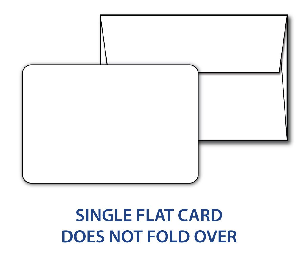 Blank White 4 1/2'' x 5 1/2'' (A2 Size) Cards with Rounded Corners - Includes 40 Cards & 40 Envelopes
