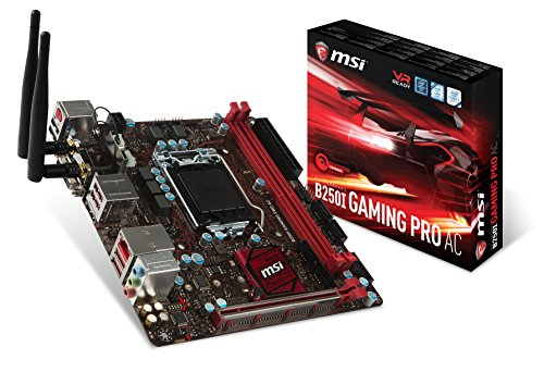 MSI Gaming Intel B250 LGA 1151 DDR4 HDMI mini-ITX Motherboard (B250I GAMING PRO AC)