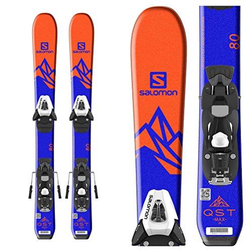 Salomon QST Max Jr. Kids Skis with C5 SR Ezytrak Bindings 2018 - (All Terrain Junior Skis)