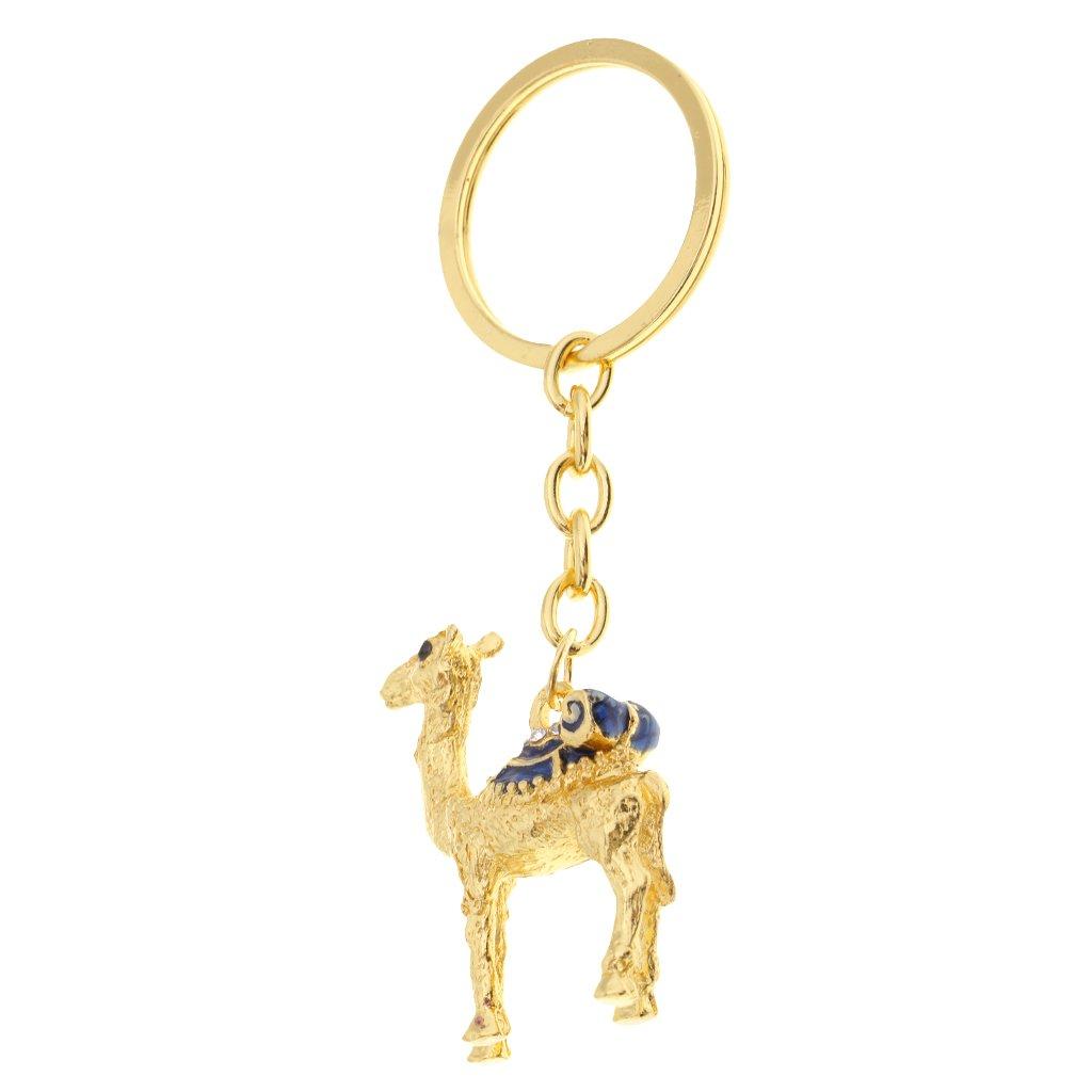 Amazon.com  Baosity 9.5cm Camel Rhinestone Keychain Keyring Charm Pendant  Bag Key Ring Car Keychian - Blue  Home   Kitchen a4215840c