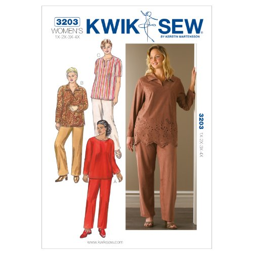 Kwik Sew K3203 Tunics and Pants Sewing Pattern, Size 1X-2X-3X-4X by KWIK-SEW PATTERNS