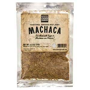 People's Choice Beef Jerky - Carne Seca - Machaca - Sugar-Free, Carb-Free, Gluten-Free, Keto-Friendly Meat Snack - 2.5 OZ Bag