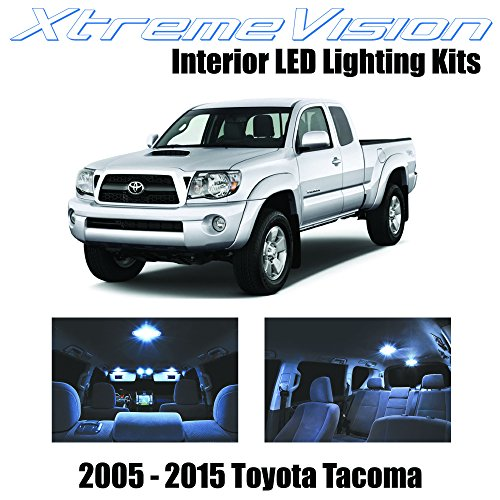 XtremeVision Toyota Tacoma 2005-2015 (7 Pieces) Cool White Premium Interior LED Kit Package + Installation Tool