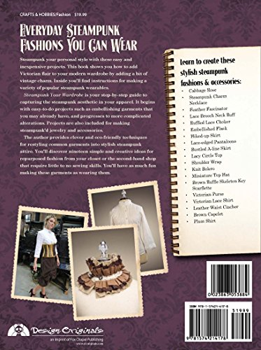 Steampunk Your Wardrobe: Easy Projects to Add Victorian Flair to Everyday Fashions 4