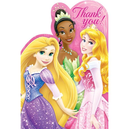 (Disney Princess 'Princess Sparkle and Shine' Thank You Notes w/ Envelopes)