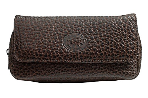 Martin Wess Germany ''Bison'' Buffalo Leather Combo Tobacco Pouch 1 Pipe Bag Case by Martin Wess