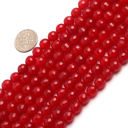 Sweet Happy Girl's 8mm Round Faceted Gemstone Red Jade for sale  Delivered anywhere in Canada