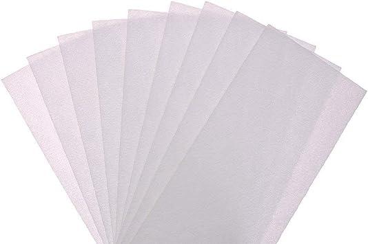 Hehilark Bandes de Cire Froide c/ôt/é Double d/épilation 10PCS Papier pour Les Poils du Corps