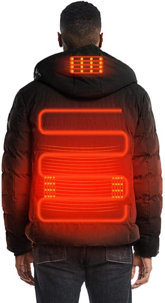 Chaleco con Calefacción USB, Ropa Abrigada de Invierno,Calentador Almohadilla térmica Esquí Chaqueta Térmico Chalecos con calefacción de esquí Lavable a máquina para Hombre Viajes Pesca