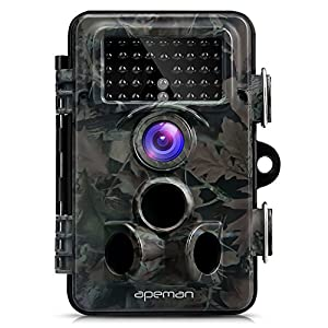 APEMAN Trail Camera 12MP 1080P HD Game camera with 130°Wide Angle Lens 120° Detection 42 PCs 940nm Updated IR LEDs Night Version up to 20M/65FT IP66 Spray Water Protected Design